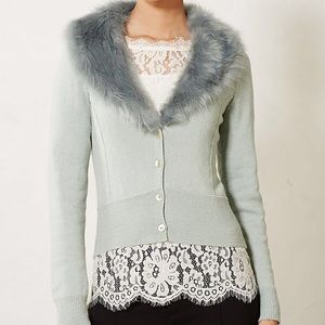 ❄️ RARE Anthropologie Vedette Ice Blue Cardigan